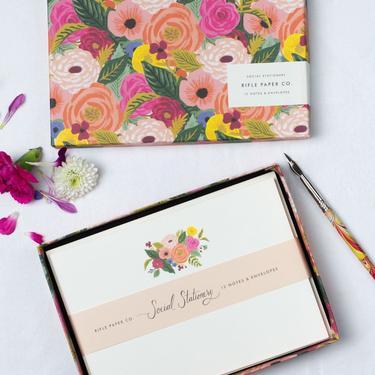 Rifle Juliet Rose Floral Notecards