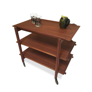 Wheeled Bar Cart with Removable Trays