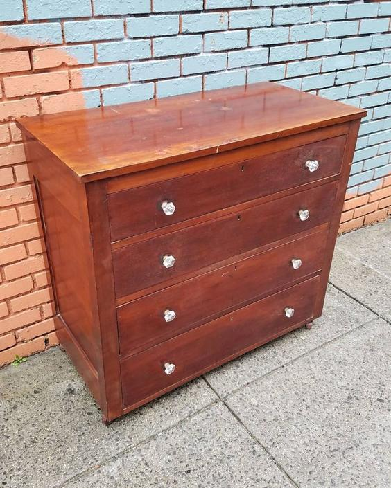 SOLD. Late 19th Century Empire Chest, $215.
