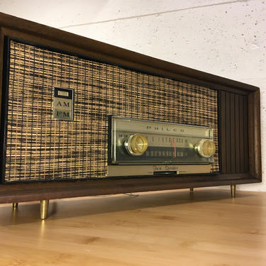 Sweet MCM 1963 Philco AM-FM Radio, Looking Good and Working Perfectly, Just Serviced by Deco2Go