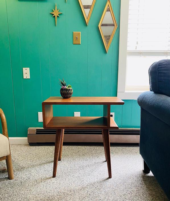 Mid Century Side Table End Table Nightstand IN STOCK by OrWaDesigns