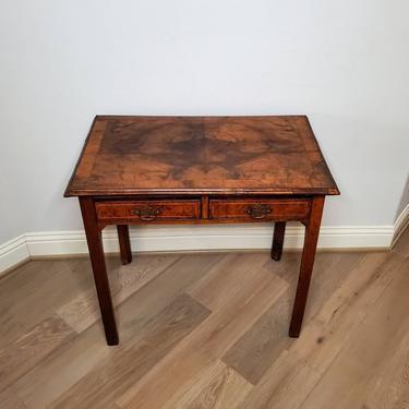 18th/19th Century Georgian Period English Burled Walnut Yew Side Table or Lowboy by LynxHollowAntiques