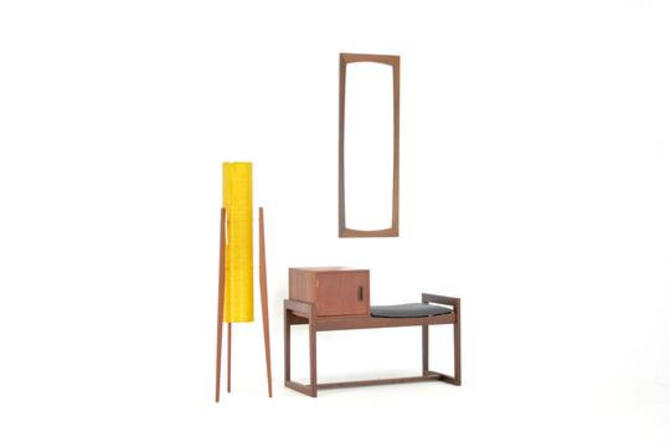 Mid Century Telephone Table...Danish by SputnikFurnitureLLC