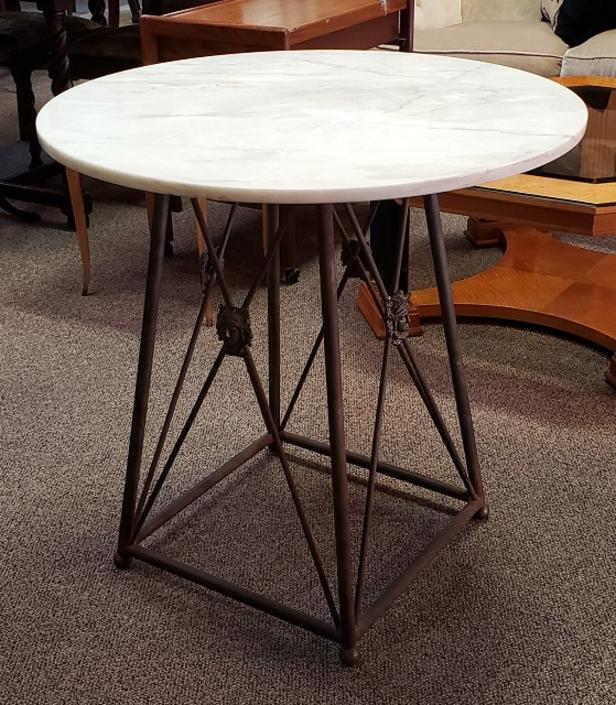 Item #CS1 Marble Top Bistro Table