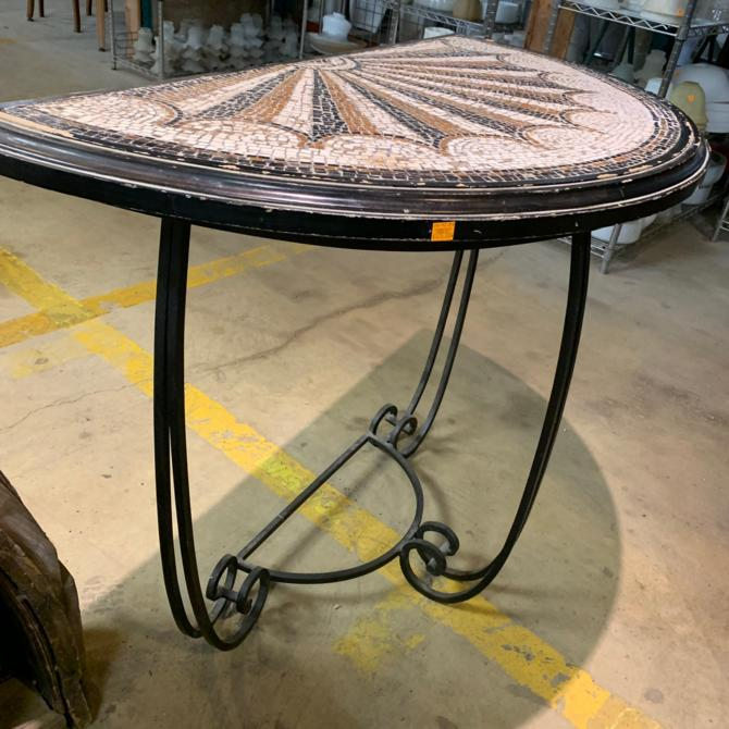 Beautiful Mosaic Tile Top Console Table + Mirror (SET)