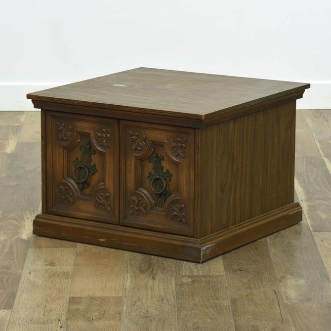 Vintage Spanish Revival End Table W Storage