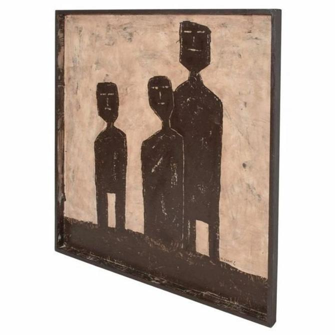 Cubist Style Modern Abstract Art Three Men artist signed M Chavez by AMBIANIC