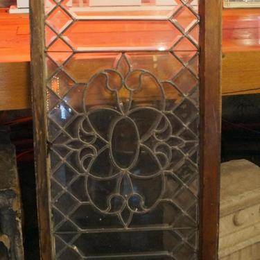 Picket Leaded Beveled Glass w Fluers