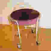 t070 lucite vanity stool